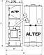 Пеллетный комплект котел с бункером автоматической подачей ALtep Duo Uni Pellet мощностью 120 кВт, фото 5
