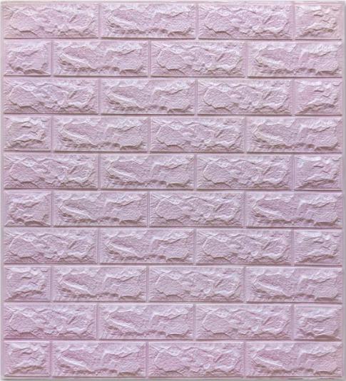 Самоклеючі 3Д панелі, декоративні стенові панелі під цеглу Світло-фіолетовий 7 мм
