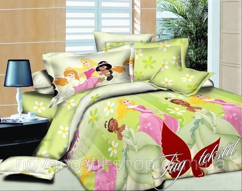 Комплект детского постельного белья ТМ TAG Принцессы салатовые