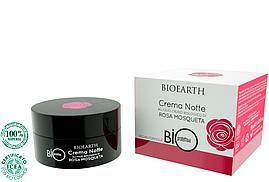 Ночной крем на основе масла Розы Москета органический Bioearth Bioprotettiva ,50 мл