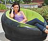 Надувное кресло Intex, 112х109х69 см, с ручным насосом и подушкой, зеленое, фото 5