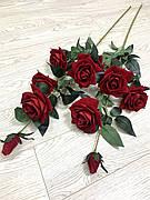Роза декоративна.Гілка троянди для підлогової вази( імітація живої 115 см )