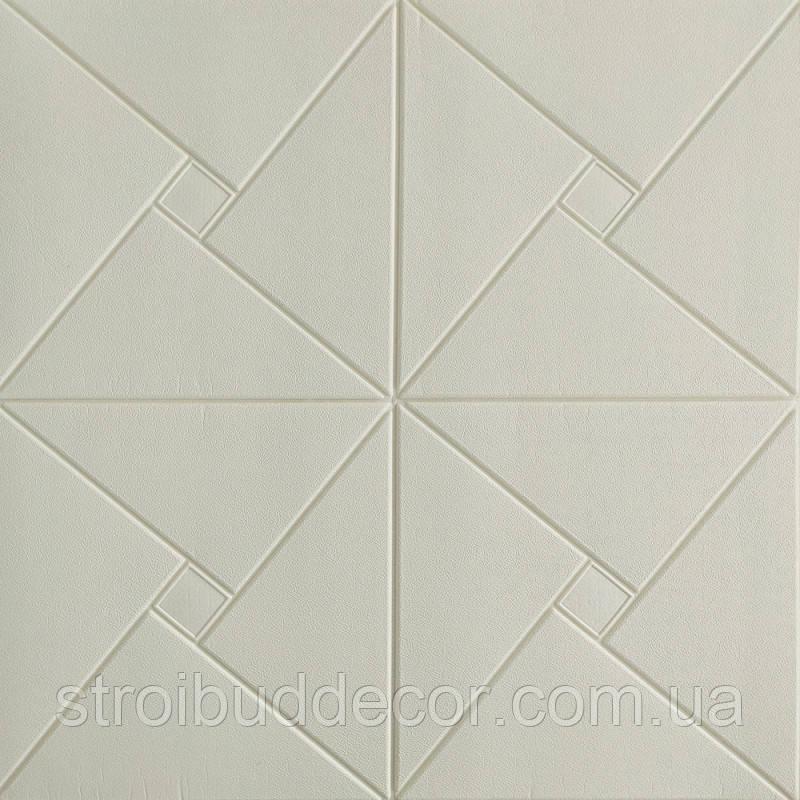 Самоклеющаяся декоративная потолочная 3D панель оригами 700x700x6,5мм