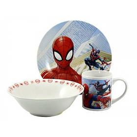 Набор детской посуды Человек Паук 3 предмета Фарфор Interos