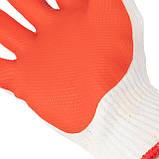 Перчатки рабочие стекольщика ( каменщика ) красные трикотажные с латексным покрытием [] INTERTOOL SP-0004, фото 2