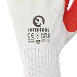 Перчатки рабочие стекольщика ( каменщика ) красные трикотажные с латексным покрытием [] INTERTOOL SP-0004, фото 3