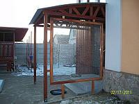 Вход в дом — деревянная конструкция, фото 1