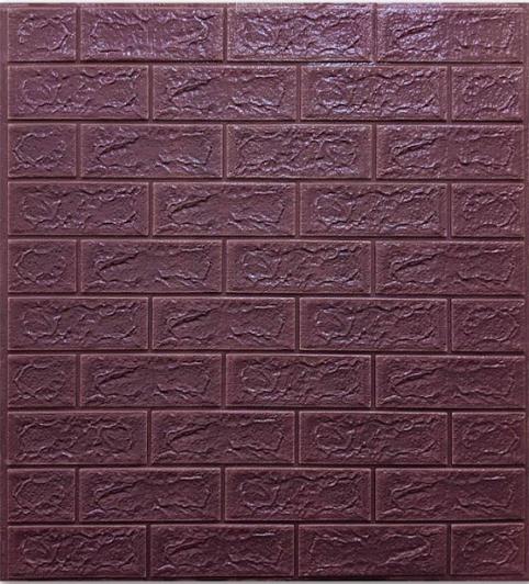 Самоклеящаяся 3D панель под кирпич цвета Кофе 5 мм, декоративные стеновые 3Д панели