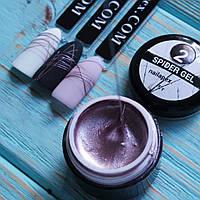NailApex Spider Gel 02 металлизированная паутинка розовая