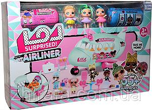 Большой набор с куклами ЛОЛ LOL Самолет, 3 куклы, 2 капсулы