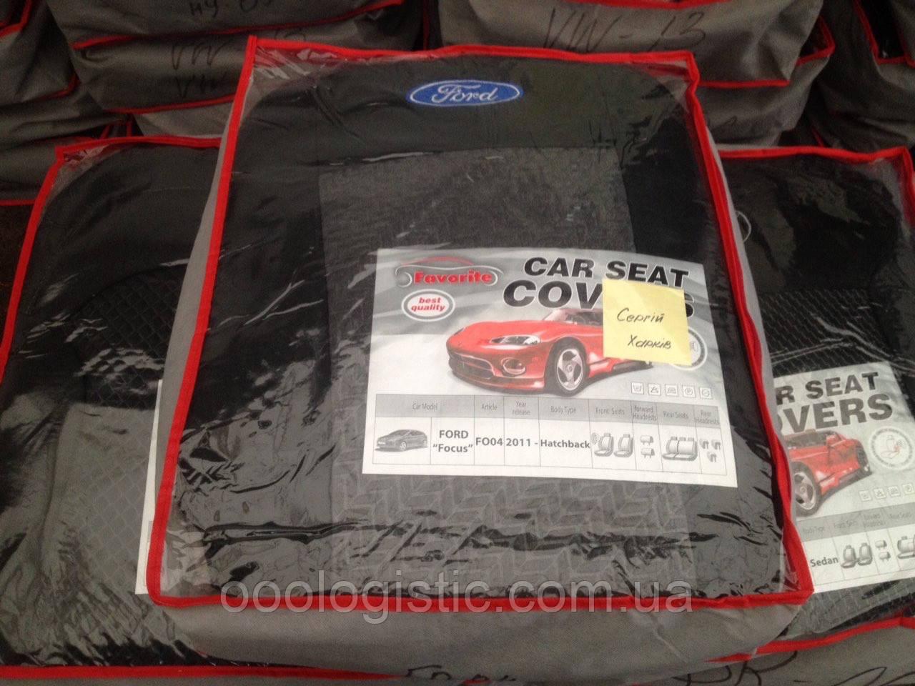 Авточохли Favorite на Ford Focus 2011> hatchback,Форд Фокус
