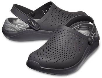 Кроксы летние Crocs LiteRide™ Clog черные 36 р.