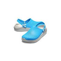 Летние кроксы Crocs LiteRide Clog голубые 39 р.
