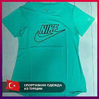 Женская футболка Nike бирюзовый.Жіноча футболка Nike бірюзовий.