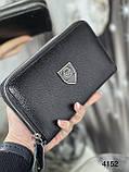 Мужской кошелек-барсетка кожаный, фото 2