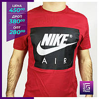Мужская футболка Nike красный. Чоловіча футболка Nike червоний