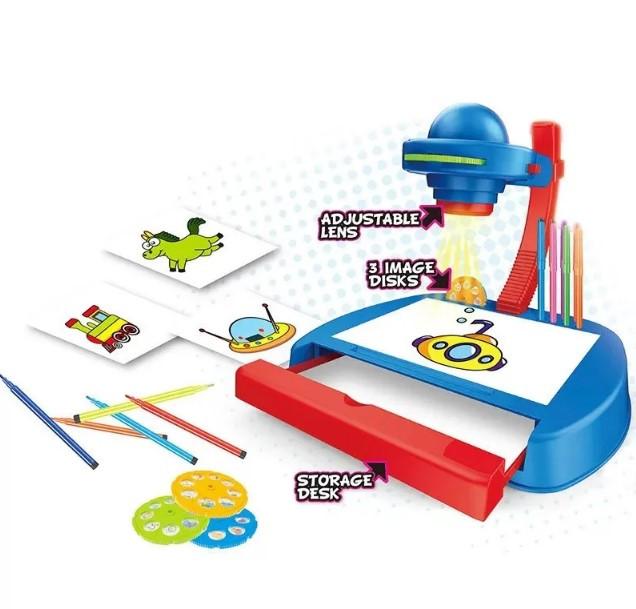 Дитячий Проектор Для Малювання Зі Столиком Projector Painting Проектор Зі Слайдами