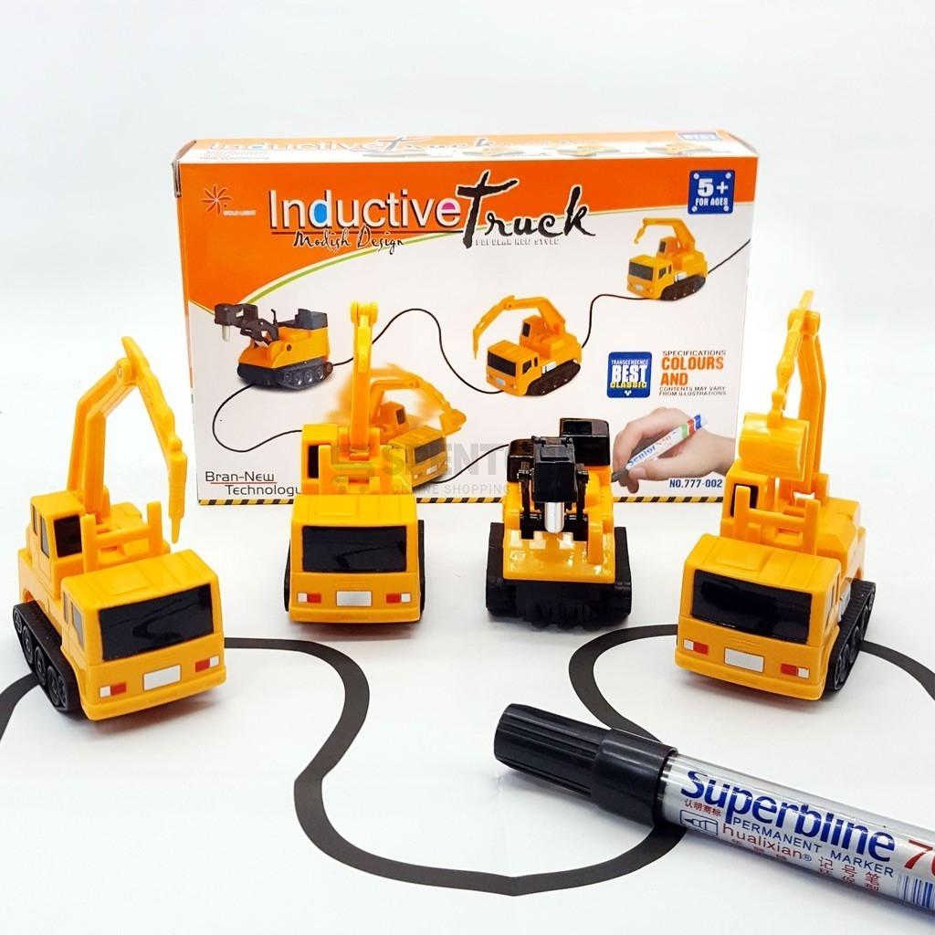 Индуктивная машинка inductive truck, игрушечная машинка, детский индуктивный автомобиль, индукционная машинка