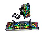 Доска для отжиманий, опоры для отжиманий, стойка для бодибилдинга Push Up Rack Board с упорами разным хватом, фото 4