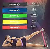 Резинка эспандер для фитнеса Esonstyle 5 шт с чехлом, фото 2