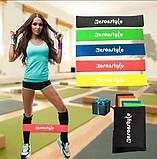 Резинка эспандер для фитнеса Esonstyle 5 шт с чехлом, фото 5