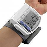 Тонометр цифрової на зап'ясті CK102S Automatic wrist watch Blood Pressure Monitor, фото 2
