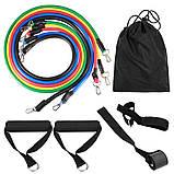 Эспандер грудной для упражнений резинки фитнеса, эспандеры для тренажерного зала, фото 3