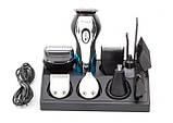 Машинка для стрижки волос Geemy 11in1 Триммер, бритва, щетка, сменные насадки, фото 3
