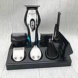 Набор для стрижки волос 11 в 1 Geemy Машинка для стрижки + Триммер мужской Беспроводной, фото 3