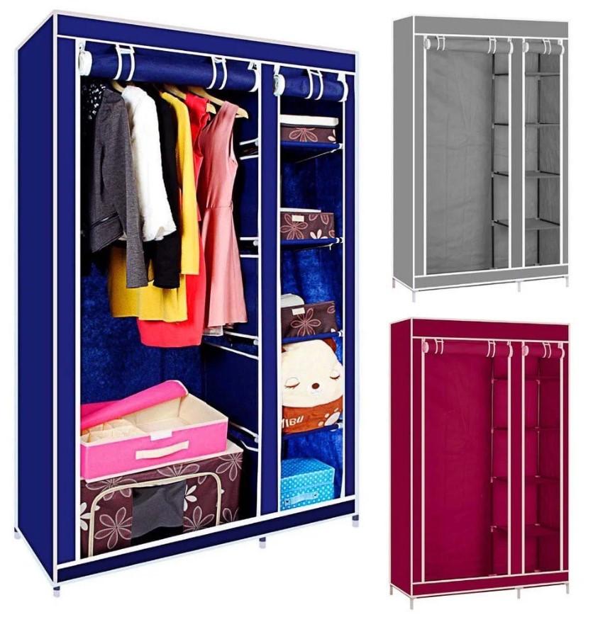 Складной каркасный тканевый шкаф Storage Wardrobe ассортимент, разные цвета