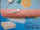 Электропростынь турецкая LUX 120*160 байковая , электро простынь, простынь с подогревом, фото 4