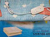 Электропростынь турецкая LUX 120*160 байковая , электро простынь, простынь с подогревом, фото 6