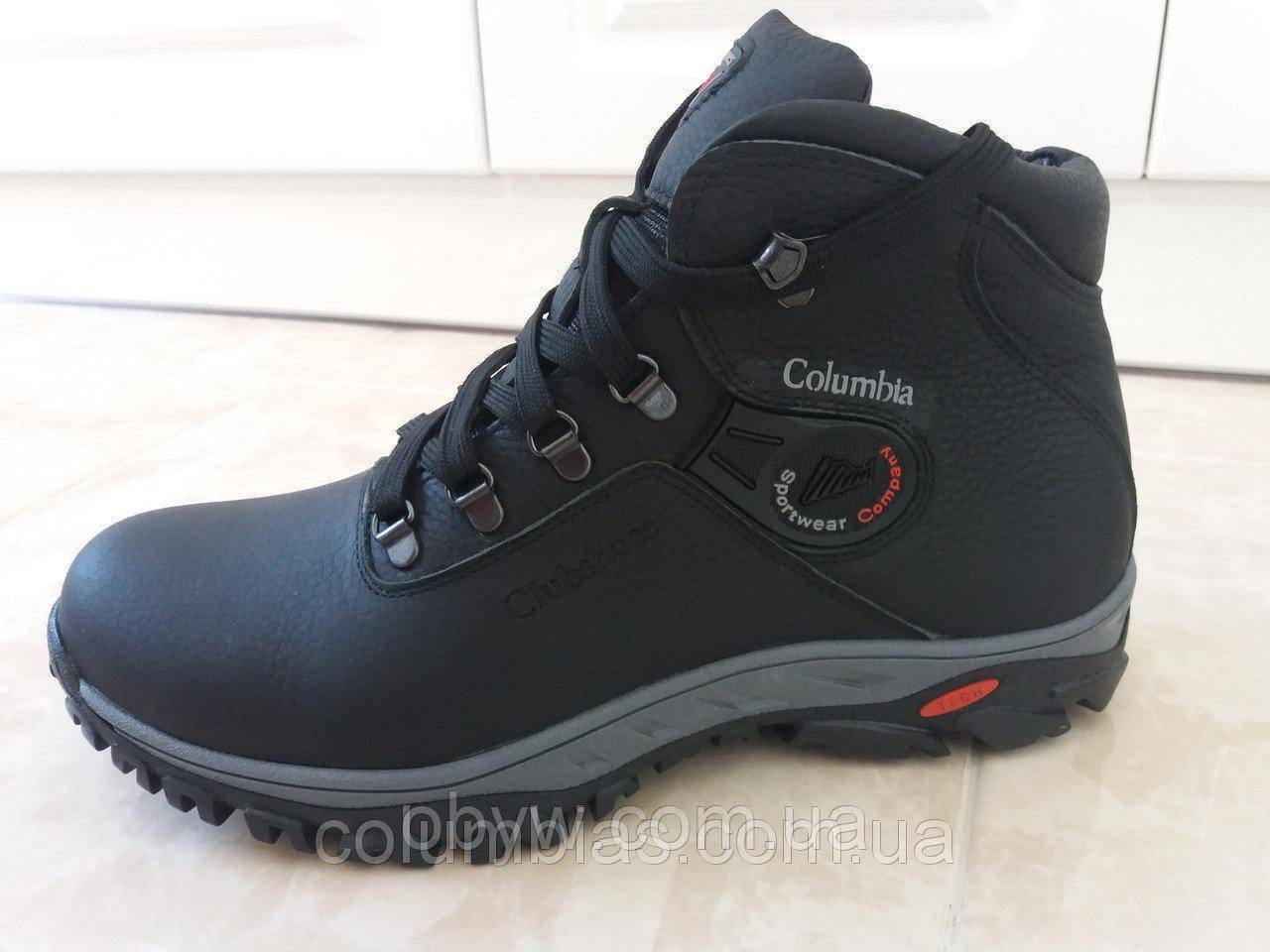 Акция! Кожаные тёплые мужские ботинки columbia ZX 79