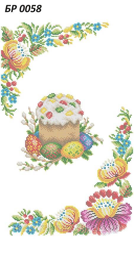 БР 0058 Заготовка для вишивки Пасхальний рушник (Сяйво БСР)