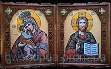"""Ікони на дошці """"Вінчальна пара Почаївська """""""