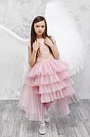 Платье из праздничной коллекции Моне (пудра) р-ры 152