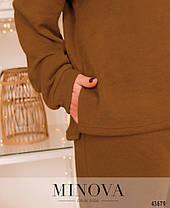 Брючный женский костюм свободный из ангоры,  больших размеров от 48 до 58, фото 2