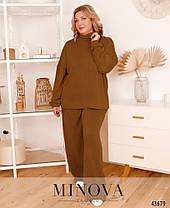 Брючный женский костюм свободный из ангоры,  больших размеров от 48 до 58, фото 3