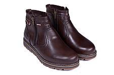 Мужские кожаные зимние ботинки Kristan City Traffic Brown, фото 3