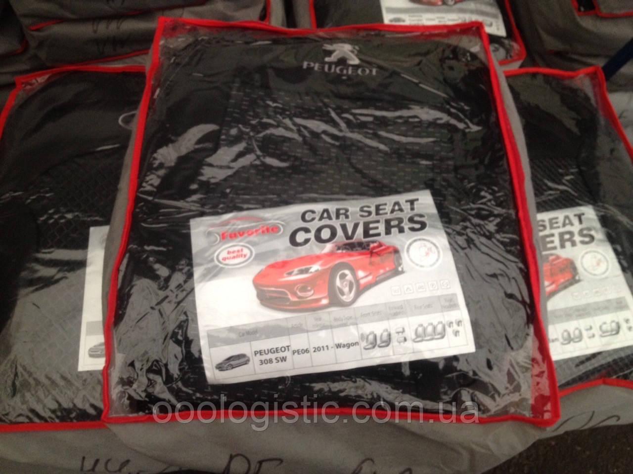 Авточехлы Favorite на Peugeot 308 SW 2011> wagon,Пежо 308 SW