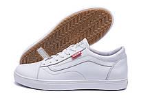 Мужские кожаные кеды Vans Clasic White (реплика), фото 3