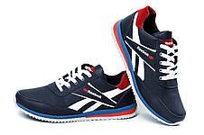 Мужские кожаные кроссовки Anser Reebok NS blue (реплика), фото 3