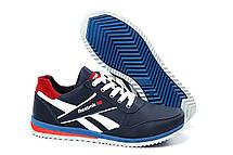 Мужские кожаные кроссовки Anser Reebok NS blue (реплика), фото 2