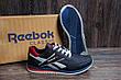 Мужские кожаные кроссовки Anser Reebok NS blue (реплика), фото 5