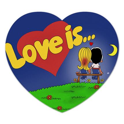 "Наклейка на шар 18"" Сердце Love is..., фото 2"