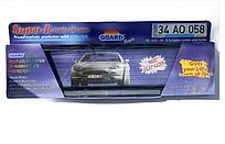 Рамка для номерного знака Sahler SAK  45  Guard пластиковая черная с белым катафотом