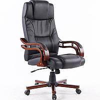 Кресло Офисное Компьютерное с Деревянными подлокотниками Premier чёрное