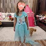 Дитяче плаття Холодне серце.Сукня Ельза.Дитяче плаття зі шлейфом. Карнавальна сукня.Сукню принцеси., фото 8