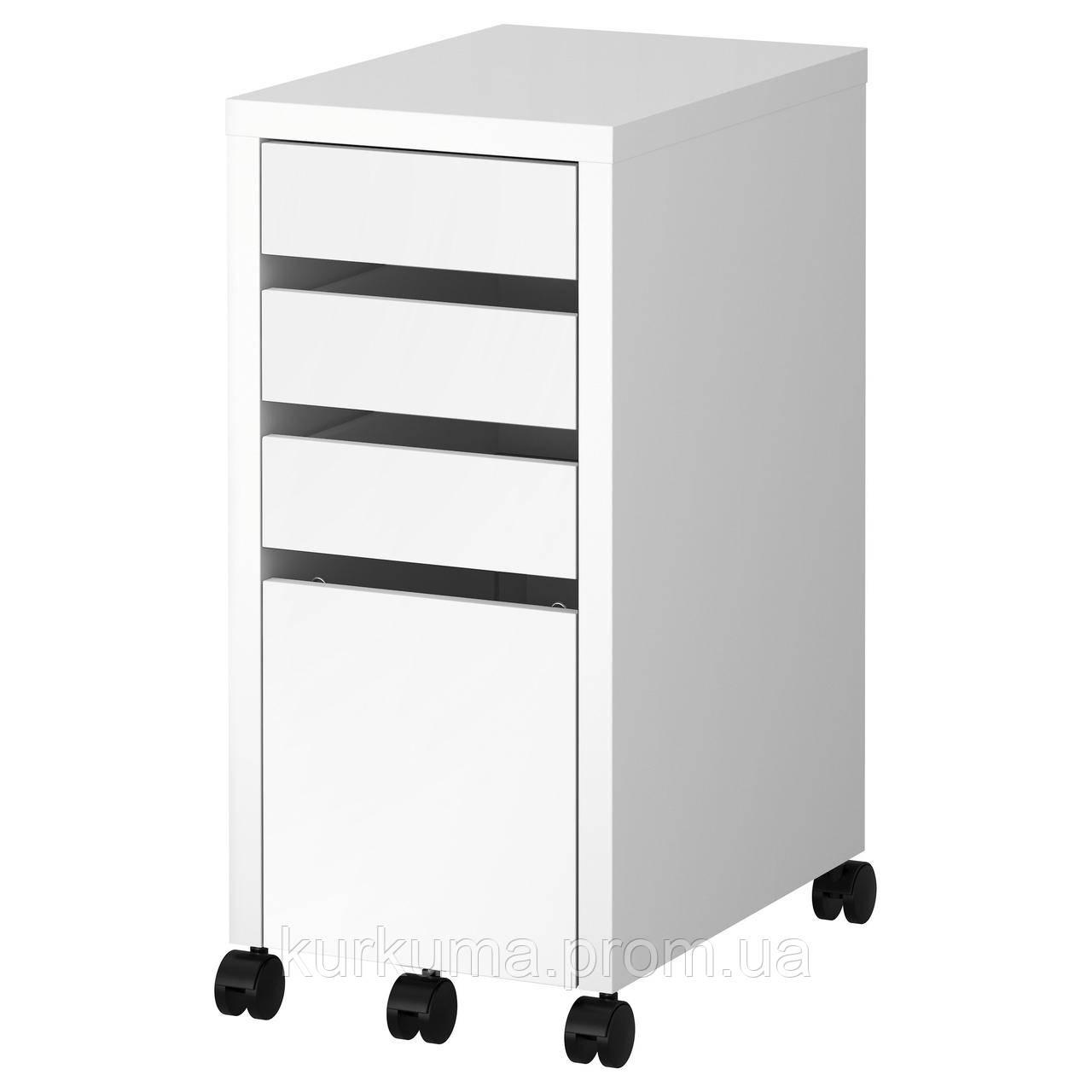 IKEA MICKE Комод с контейнером для документов, белый, 35x75 см (502.130.80)