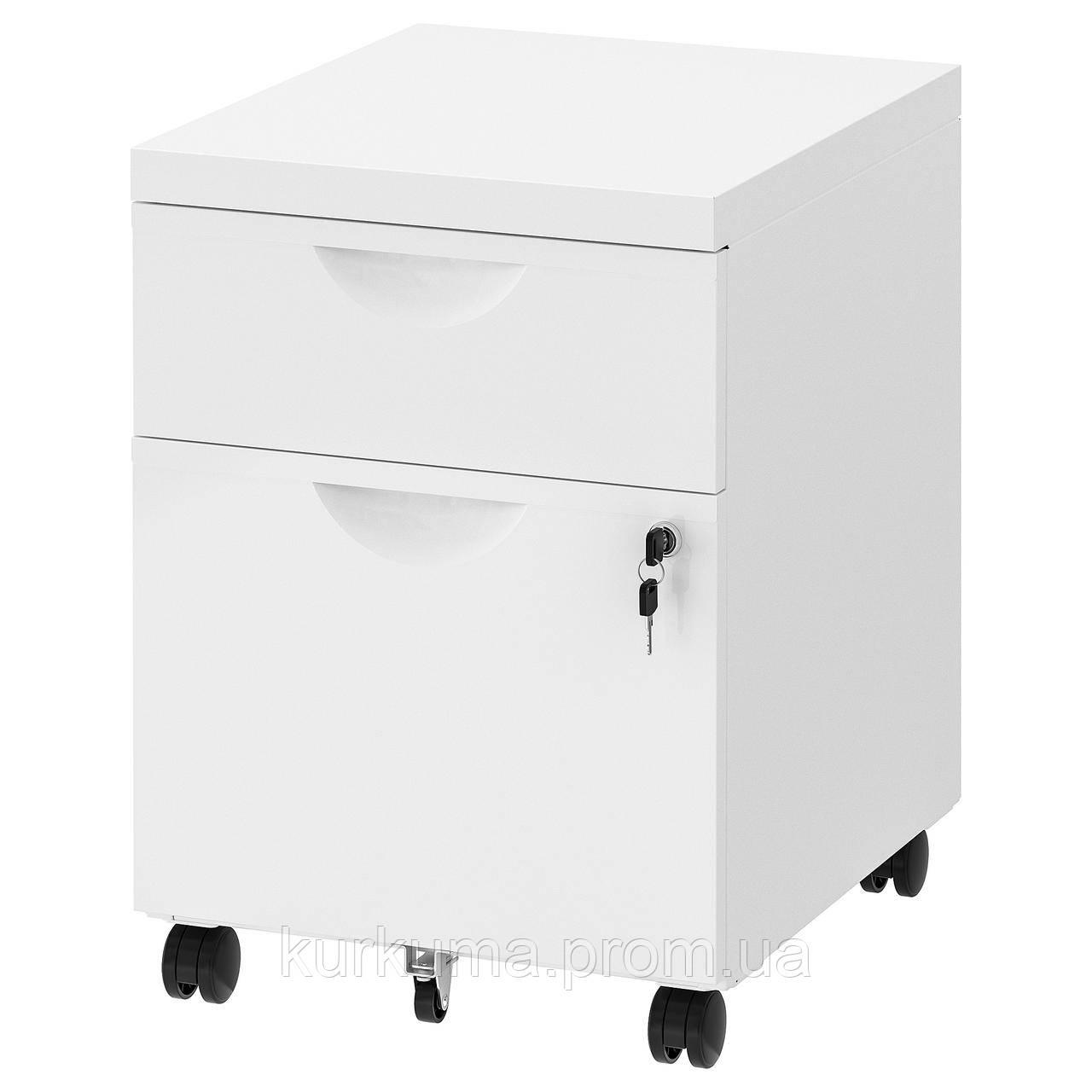 IKEA ERIK Комод с 2 ящиками, белый, 41x57 см (301.518.08)